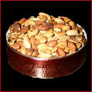 3 Pound Tin of Deluxe Mixed Nuts Salted