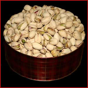 3 Pound Tin of Pistachios Natural Salted