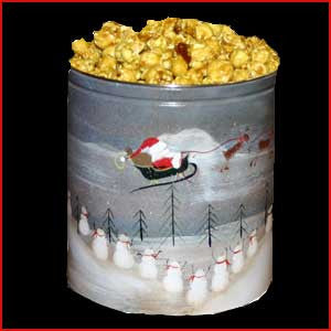 1 Gallon Tin of Hunkey Dorey Popcorn