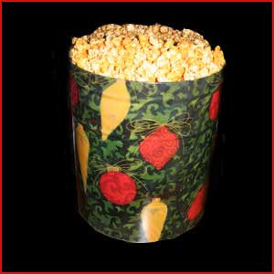 3.5 Gallon Tin of Cheese Popcorn & Caramel Popcorn