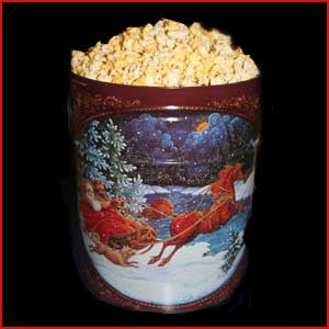 3.5 Gallon Tin of Popcorn, Salted