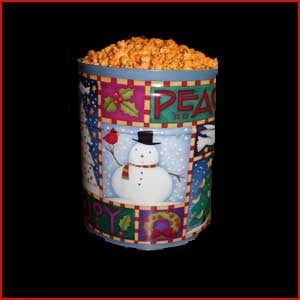 3.5 Gallon Tin of Popcorn, Cheese