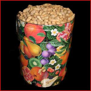 6.5 Gallon Tin of Jumbo Peanuts In The Shell