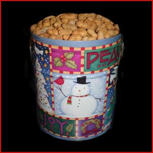 3.5 Gallon Tin of Jumbo Peanuts In The Shell
