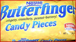 Ground Butterfinger Pieces  3 Lb Bag