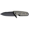 "Hogue EX-02 Flipper: 3.375"" Spear Point Blade - Black Cerakote Finish, Green G-Mascus G10 Scales (34238)"