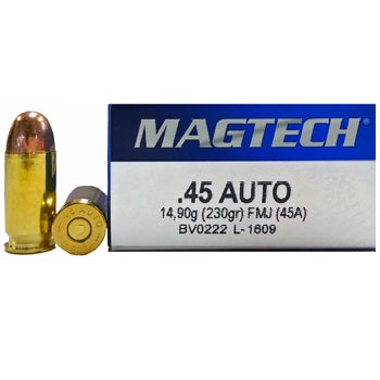MAGTECH or Sellier & Bellot .45 ACP 230 GR - 250 RDS