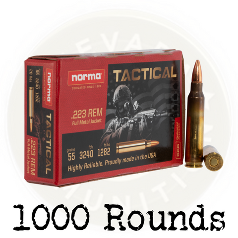 NORMA .223 TACTICAL 55 GR FMJ - 1000 Rounds
