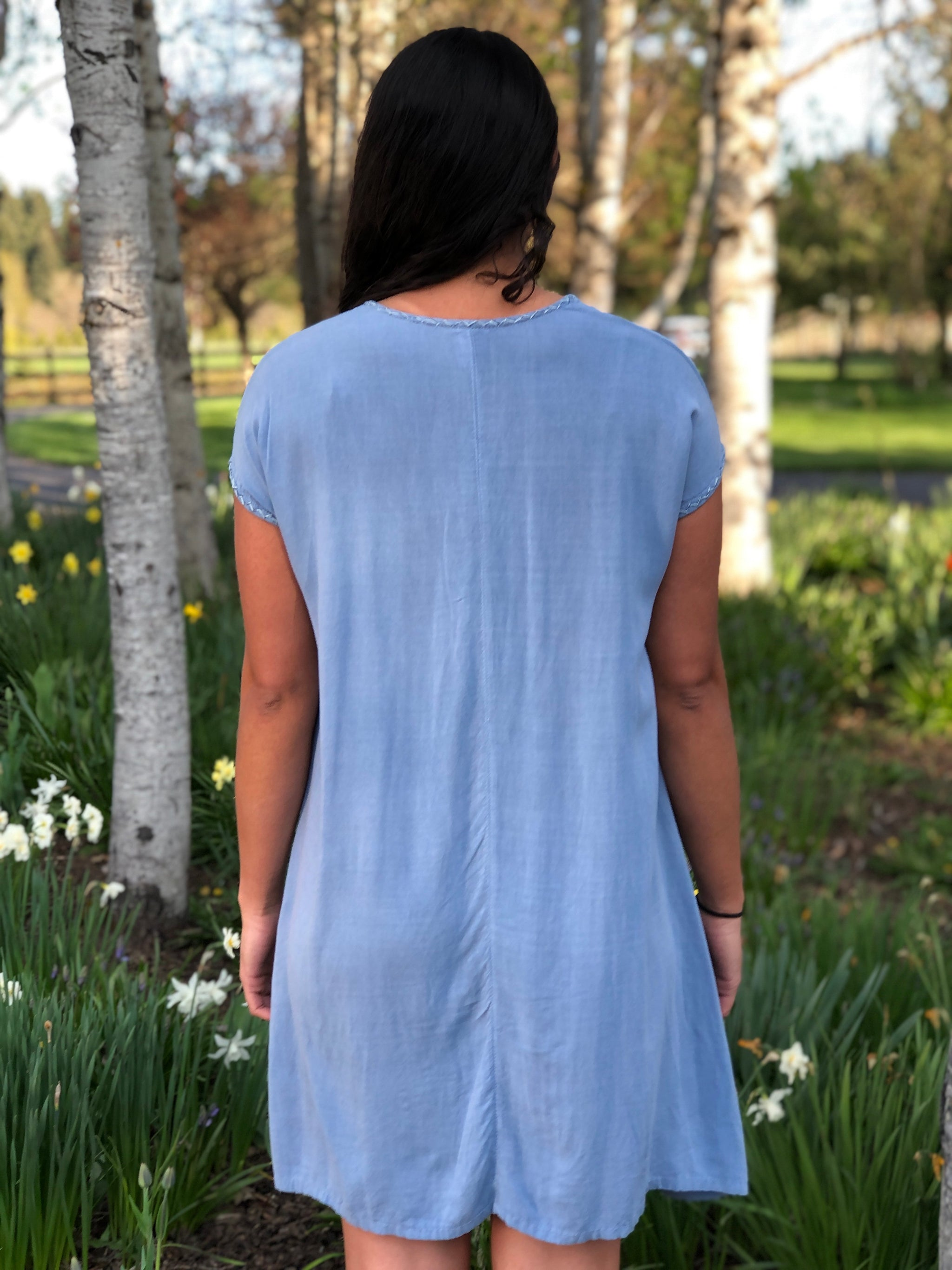 Felisa - blue corn flower dress