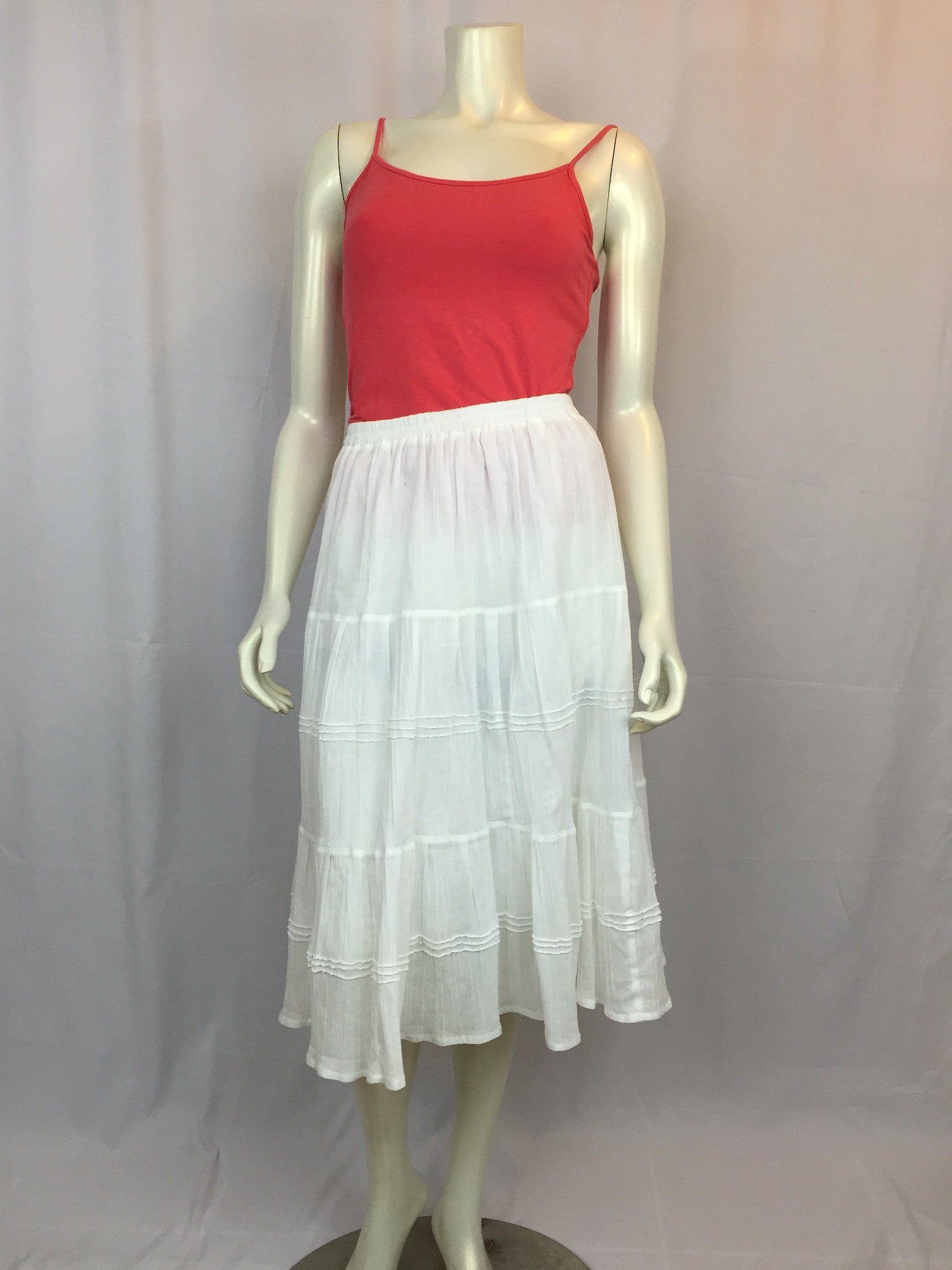 Marlene tiered skirt white