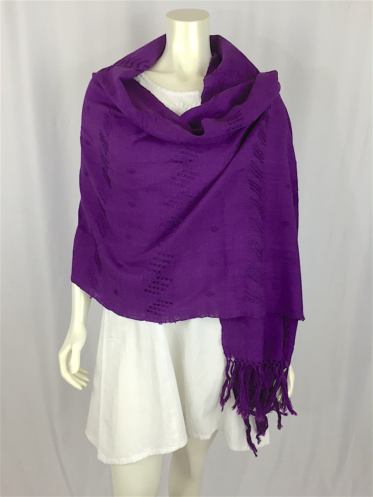 Carranza Handwoven Wrap - purple