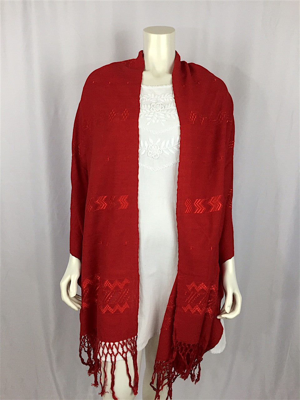 Carranza Handwoven Wrap - red