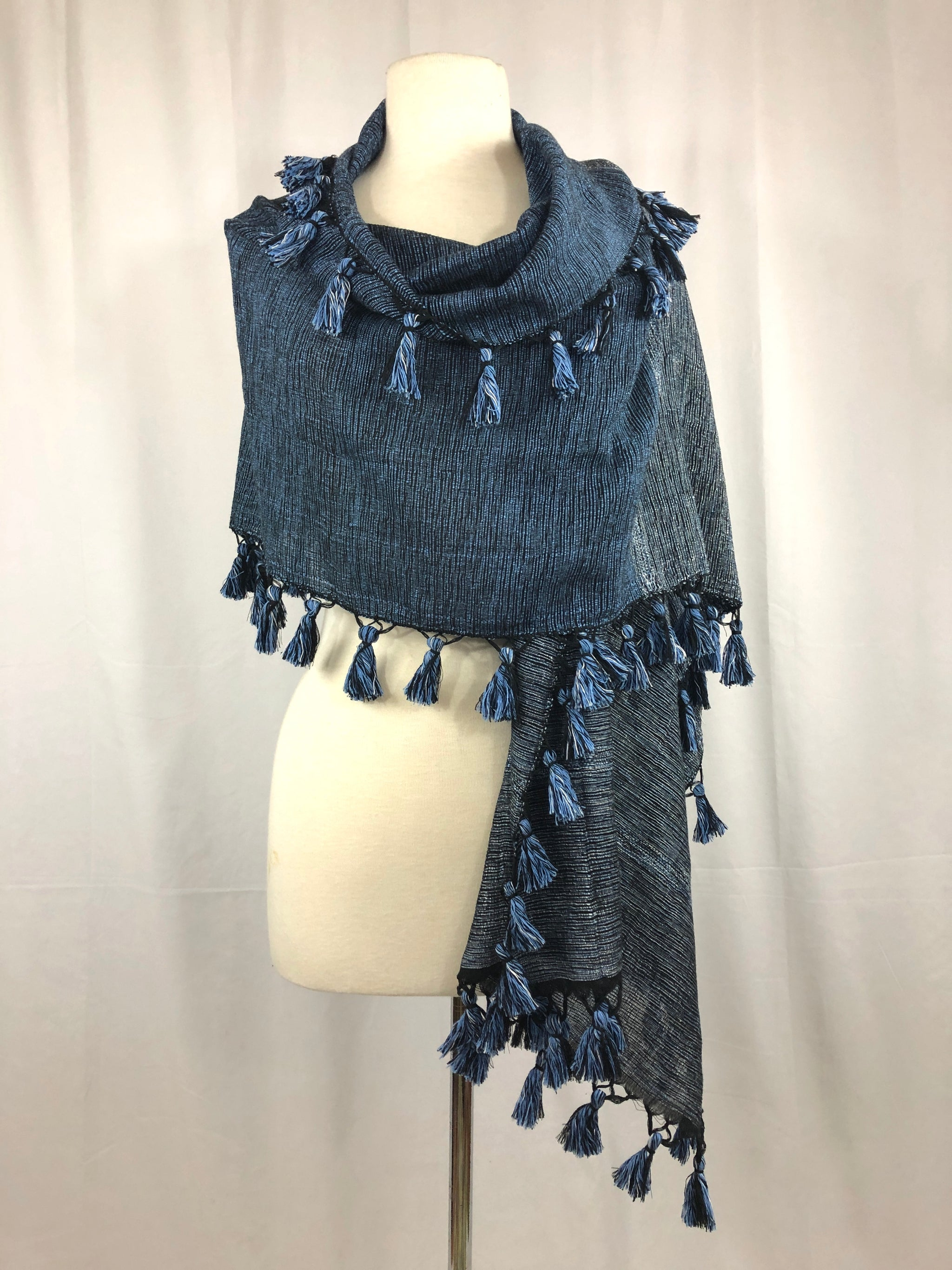Lila Tassel Wrap - Evening