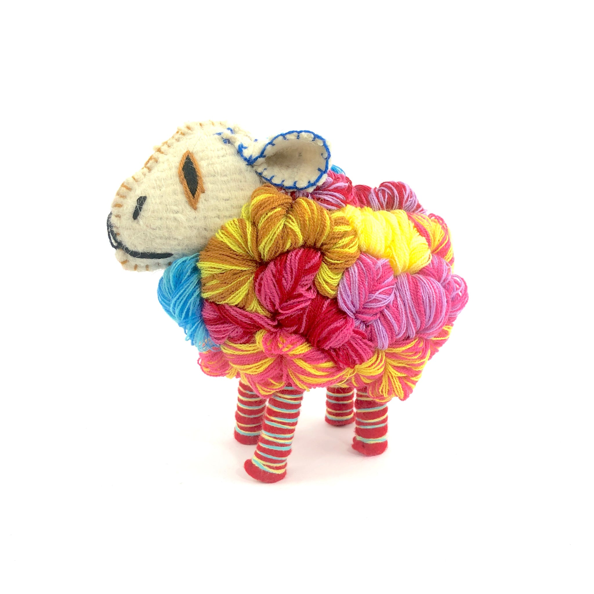 Mexican wool animals, Mexican folk art animals, Wool sheep decoration