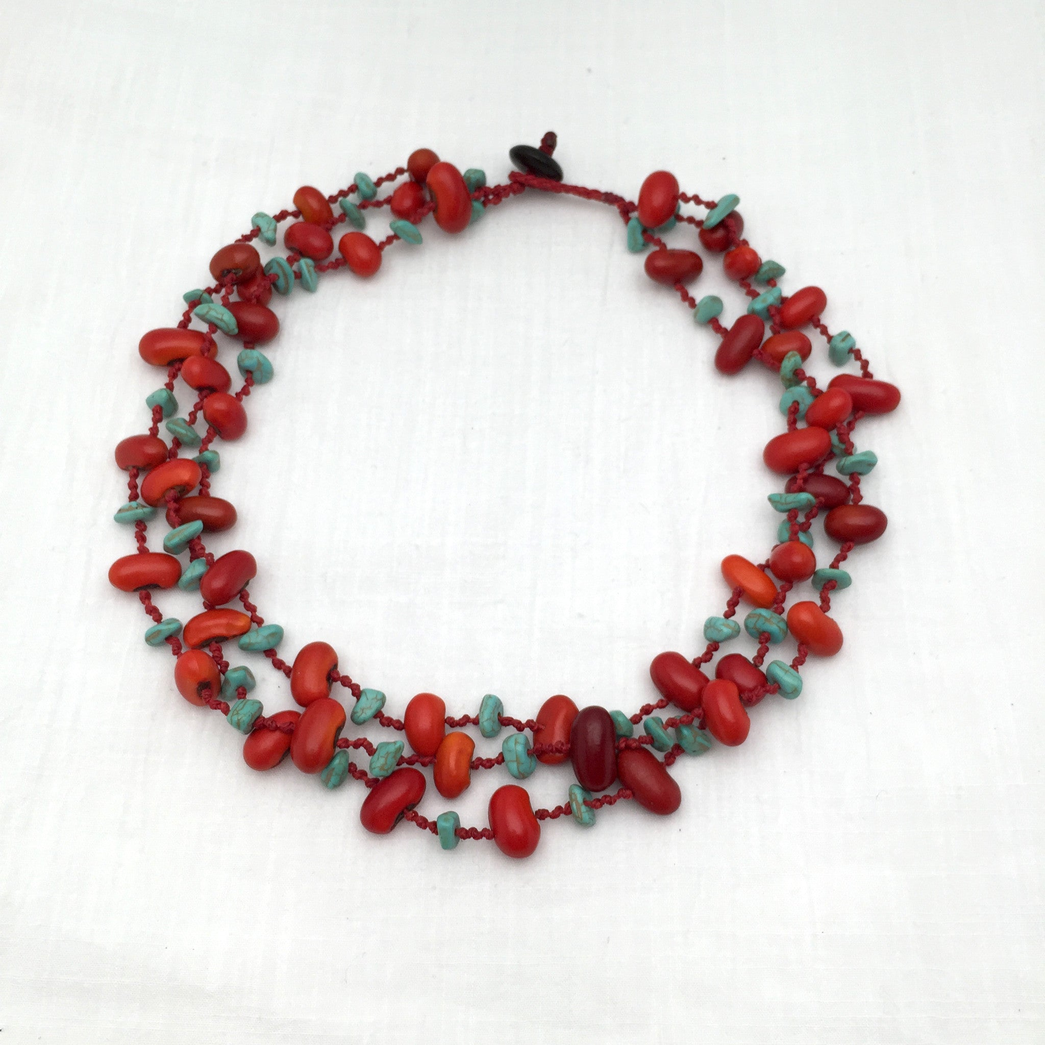 Felipe zompantle turquoise necklace