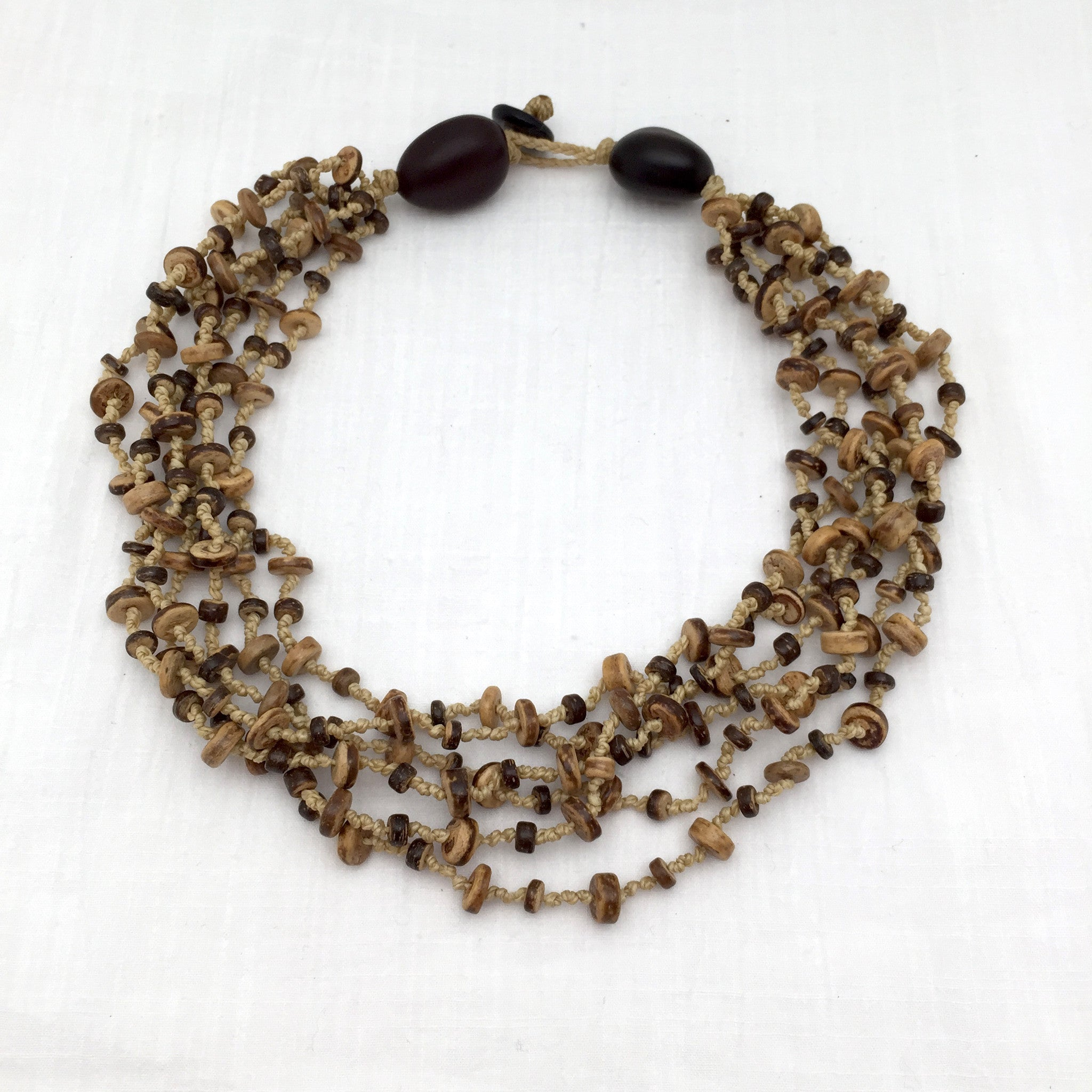 Puerto Angel coconut shell necklace