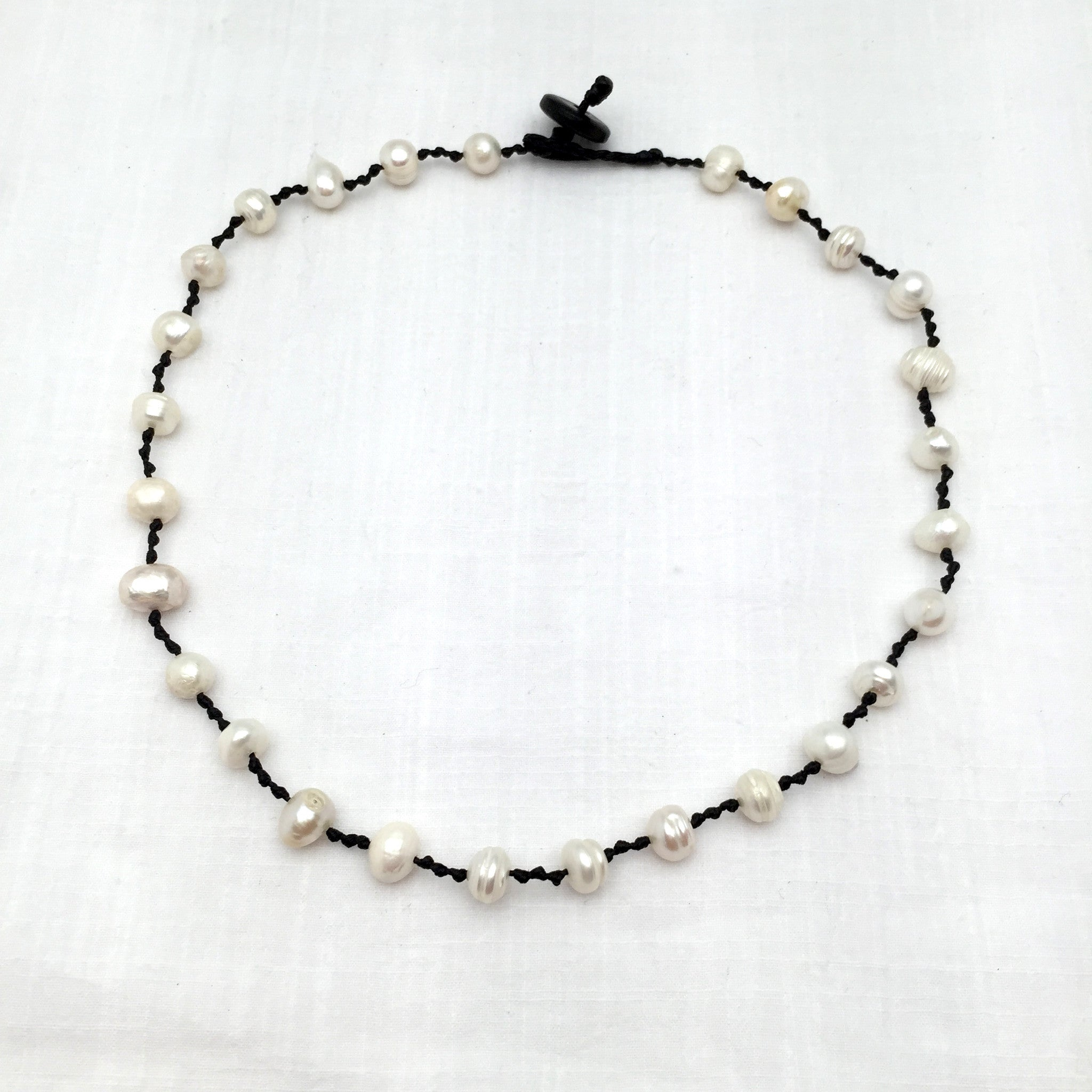 Magdalena knotted pearl necklace
