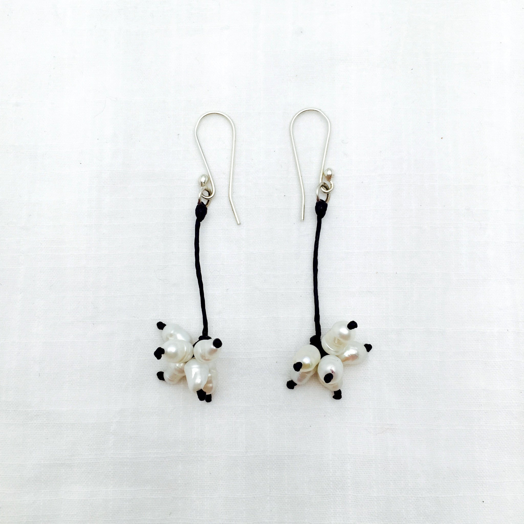 Maria pearl cluster earrings