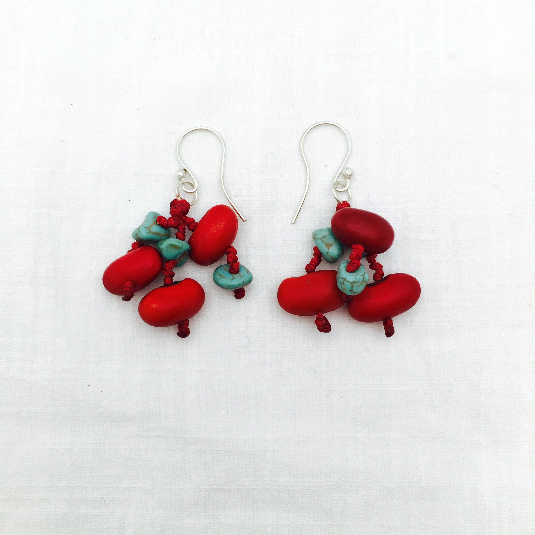 Felipe zompantle turquoise earrings