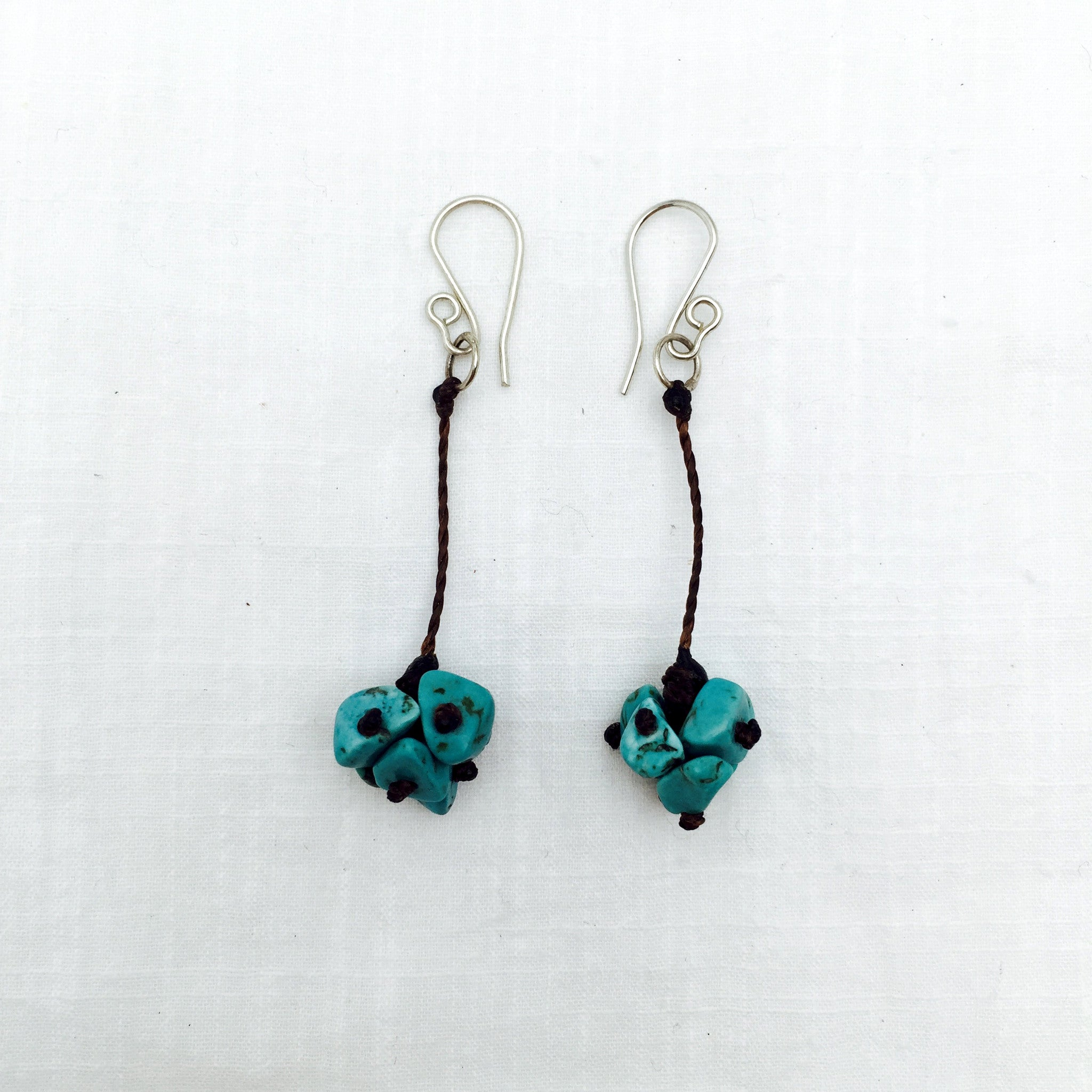 Santos turquoise cluster dangle earrings
