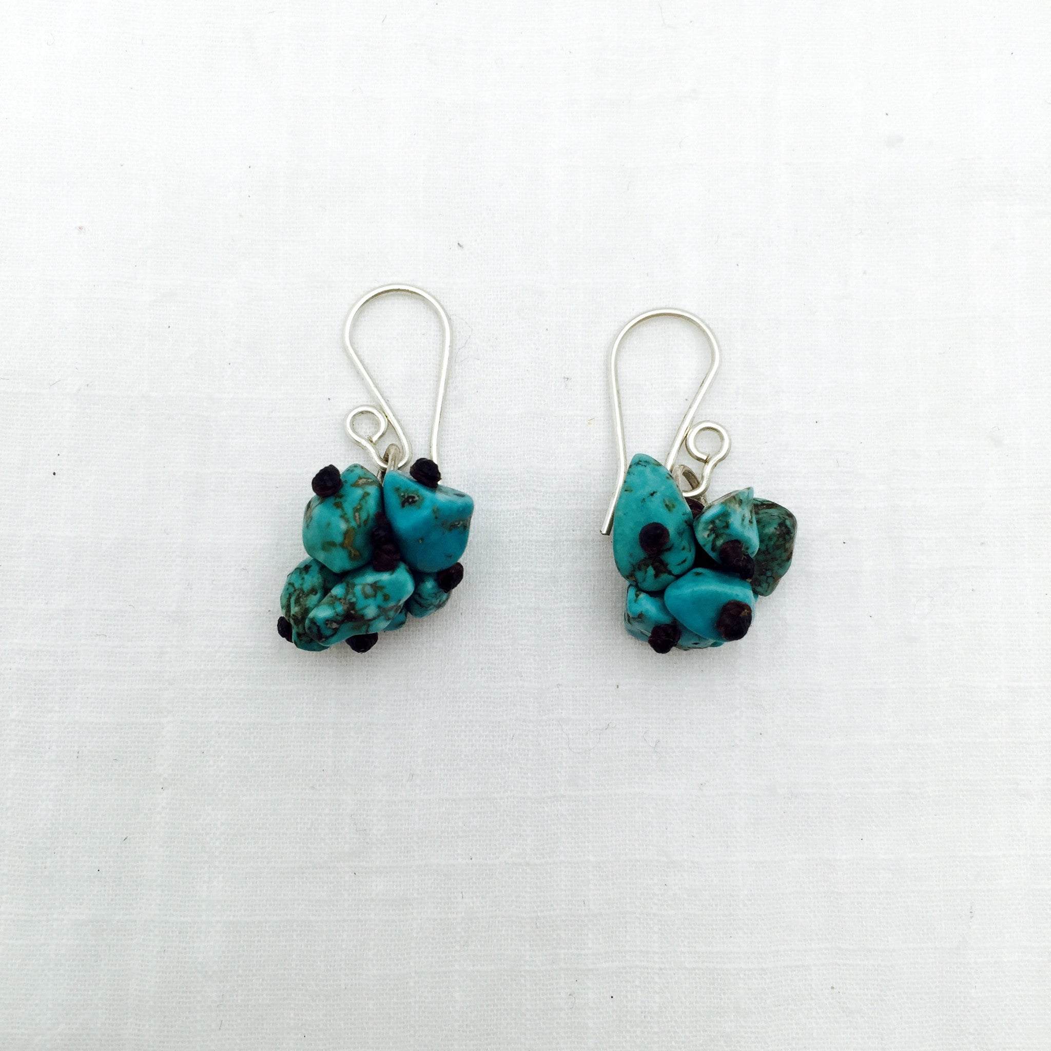 Santos turquoise cluster earrings