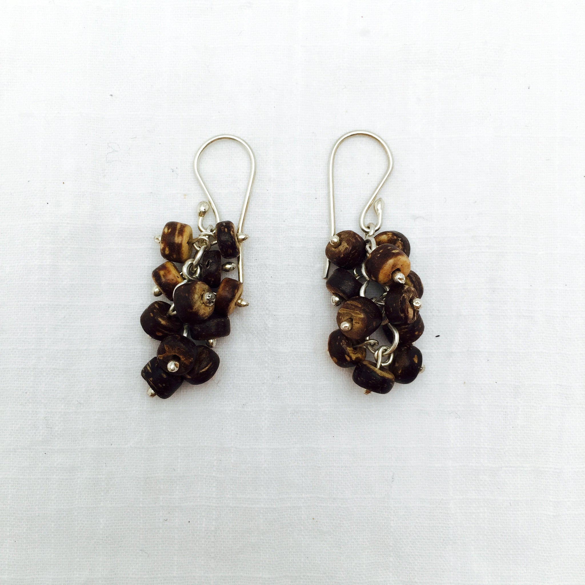 Puerto Angel coconut shell earrings