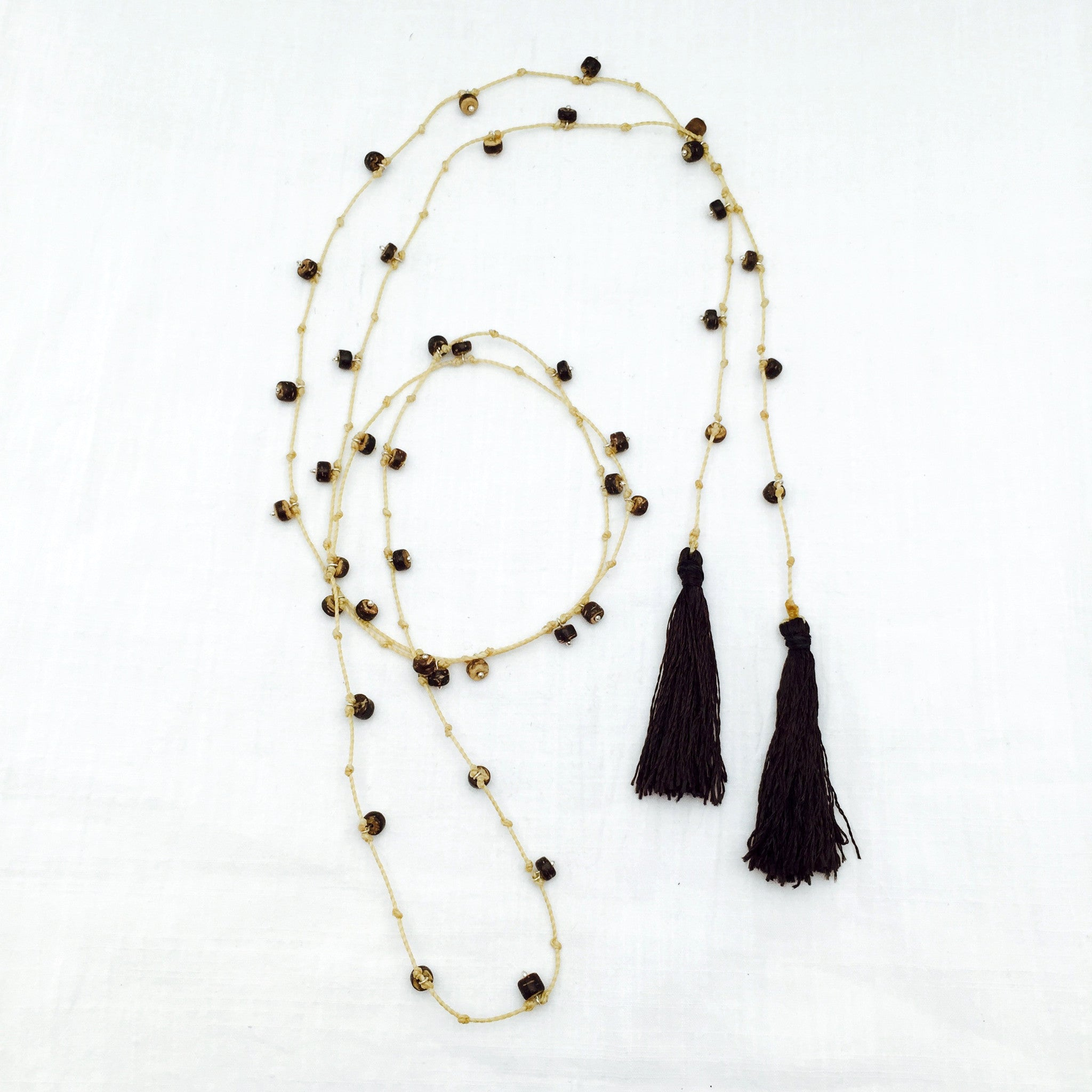 Puerto Vallarta coconut shell lariat necklace