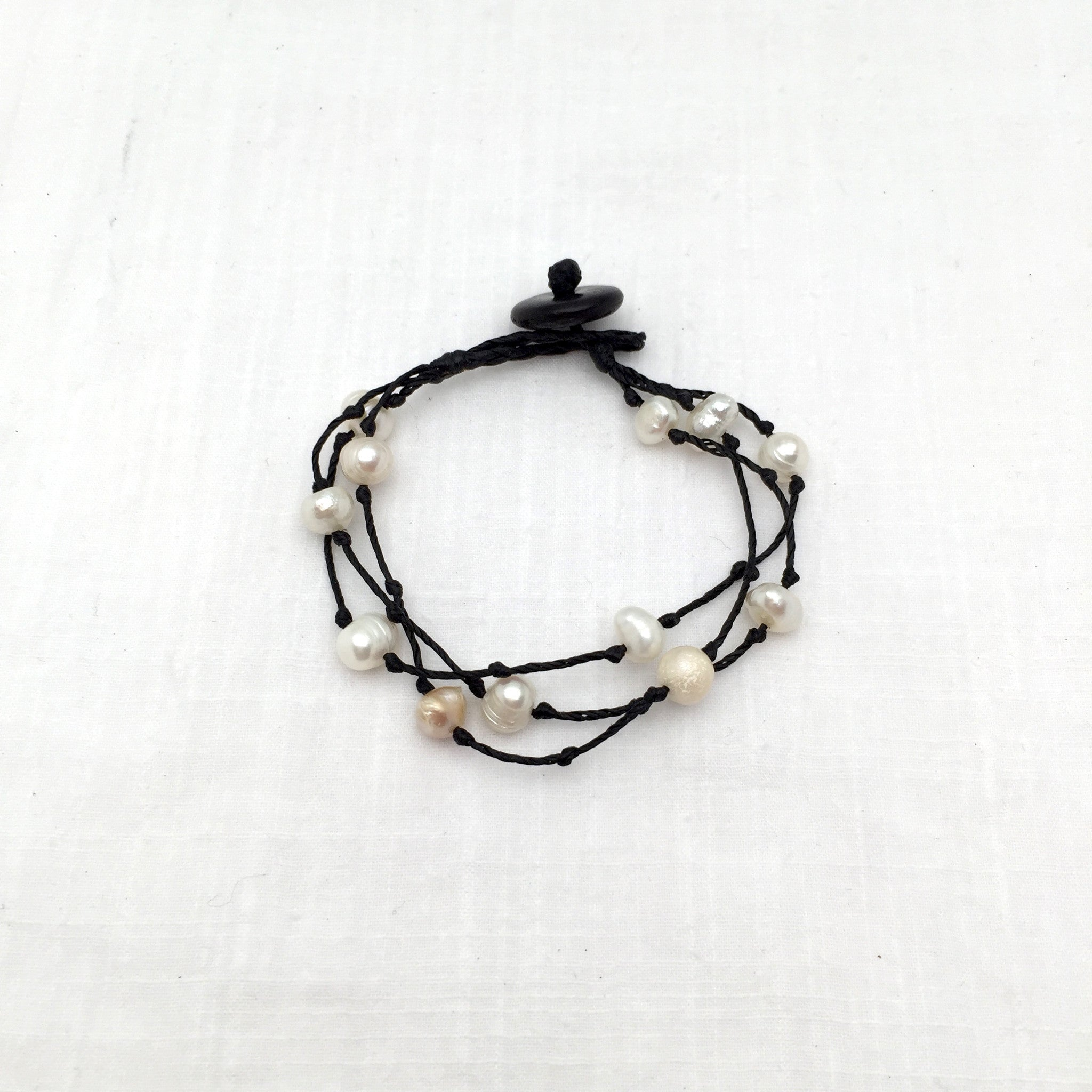 Maria knotted pearl bracelet