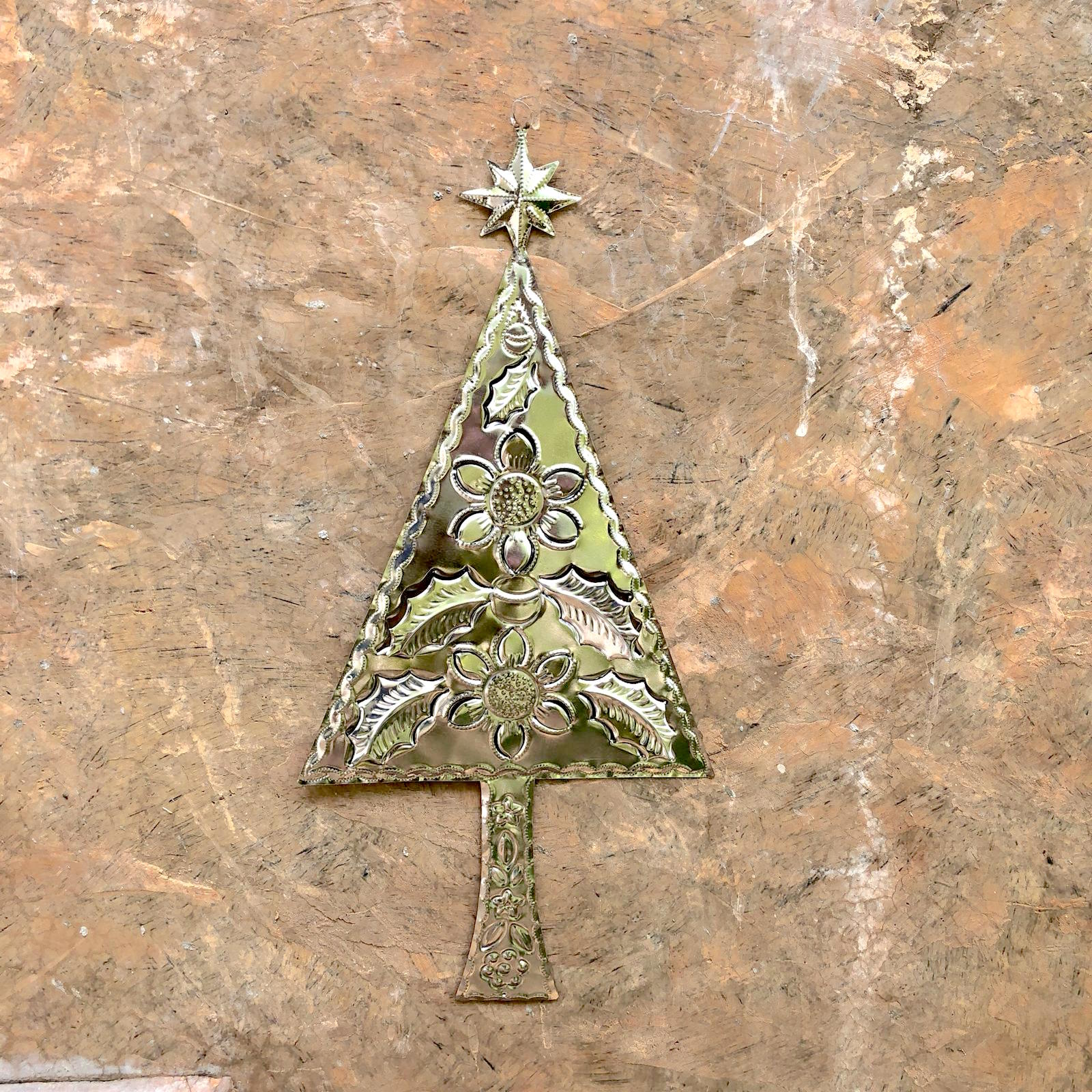 Tin Christmas Tree Wall Ornament
