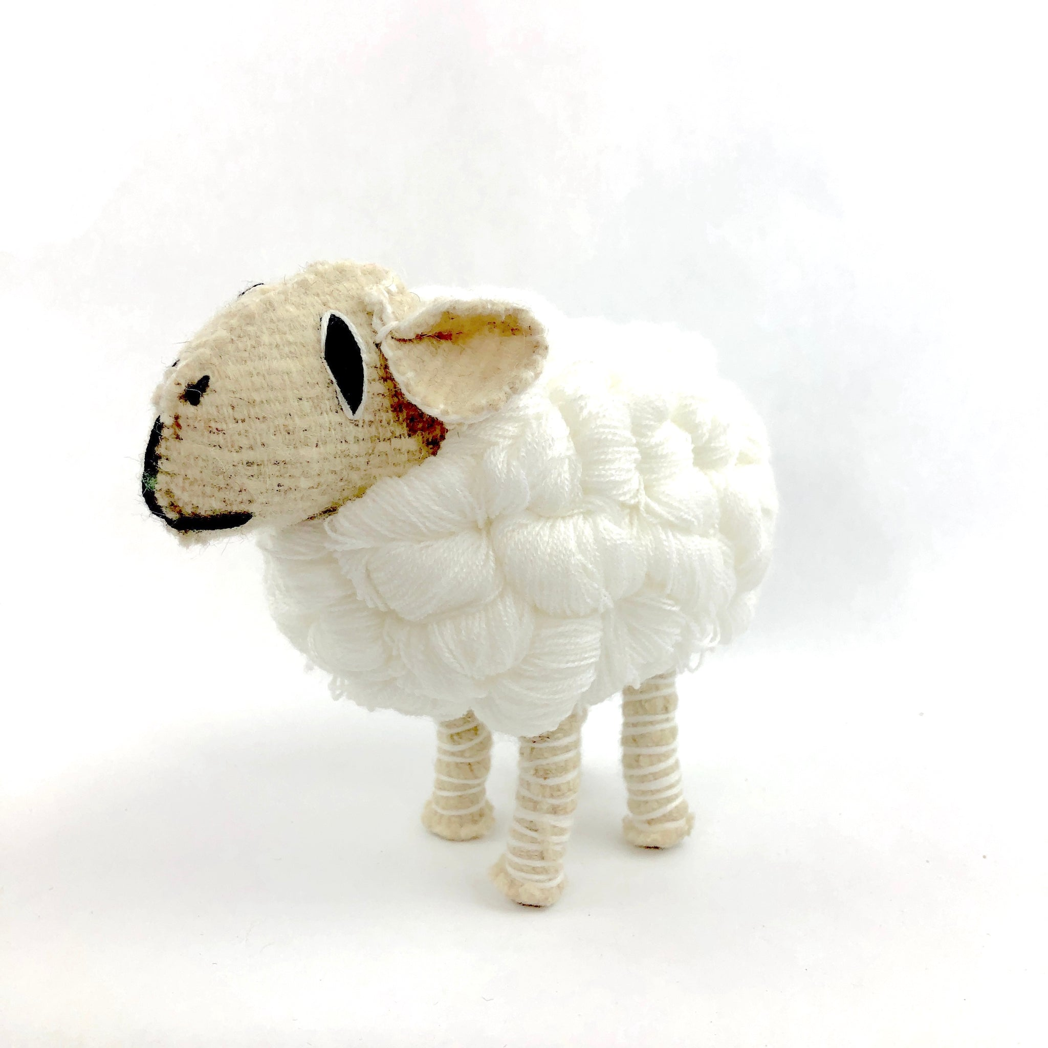 Mexican folk art animal, sheep, fair trade sheep