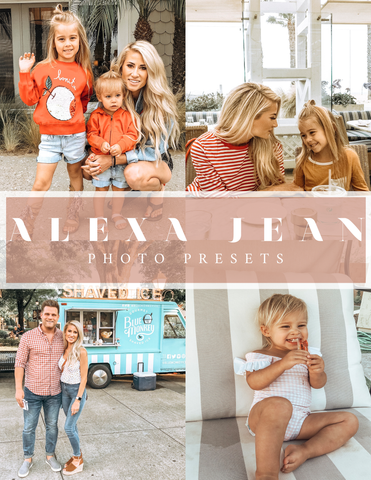 30 min left for the sale! Alexa Jean Photo Presets