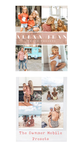 Most popular 2 pack bundle - The Summer pack + Alexa Jean Presets (this is my favorite pack)