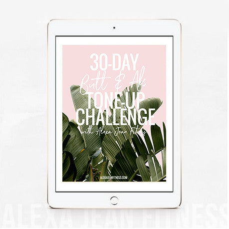 2017 NEW RELEASE! 30-Day Butt & Abs Tone Up Challenge