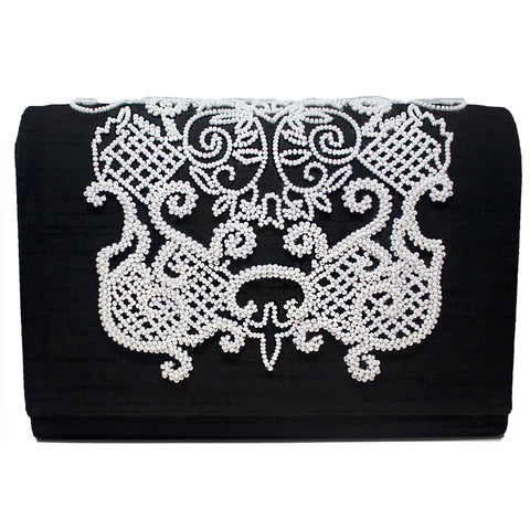 Baroque Romance Beaded Purse