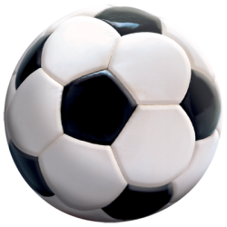 """3D SOCCER BALL""  3D ART by AWD. <font face=""Times New Roman""><i> 11169TD5 </i></font>"