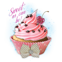 """CUPCAKES"" COMBO RH - RHINESTONE TRANSFER by AWD. <font face=""Times New Roman""><i> 18203HLR4 </i></font>"