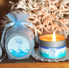 Ocean Laguna SKY Pure soy travel candle