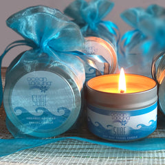 Ocean Laguna ~ SURF Pure Soy Travel Candle With Free Organza Gift Bag