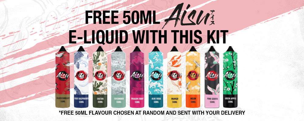 Free 50ml Aisu Short Fill with this Kit