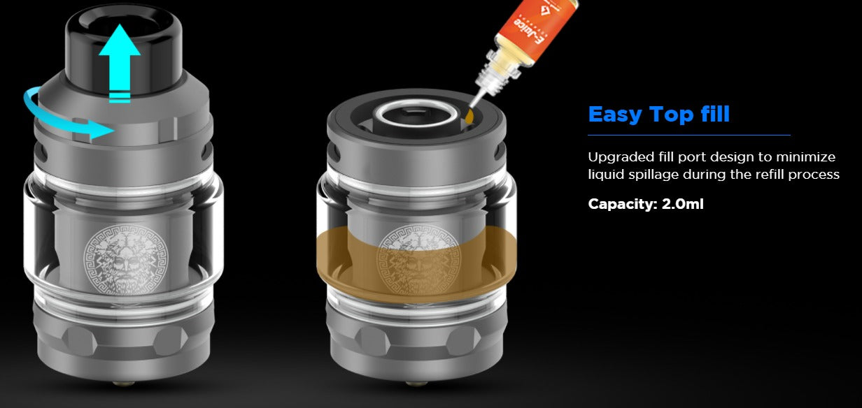 Top fill design allows for easy filling.