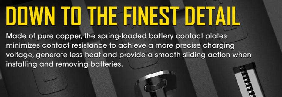 Smooth sliding action when installing and removing batteries.
