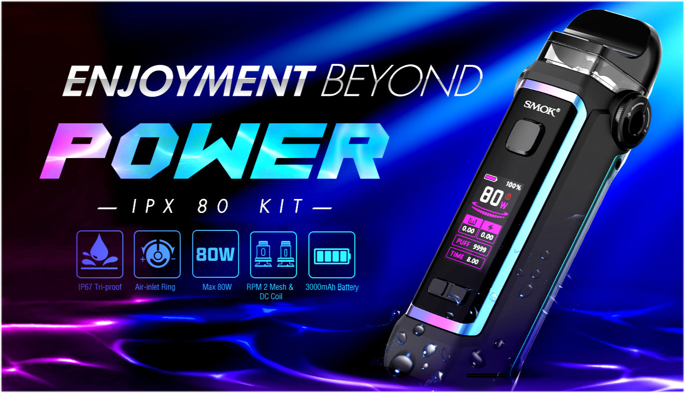 Max 80W - IP67 Tri-Proof - Air-Inlet Ring - 3000 mAh battery - RPM 2 Coil