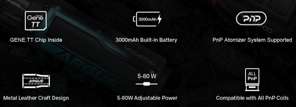 Argus pro features a 3000mAh battery and 80w output