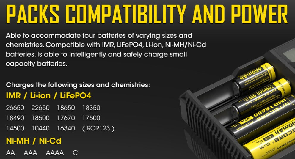 Able to intelligently and safely charge small capacity batteries.