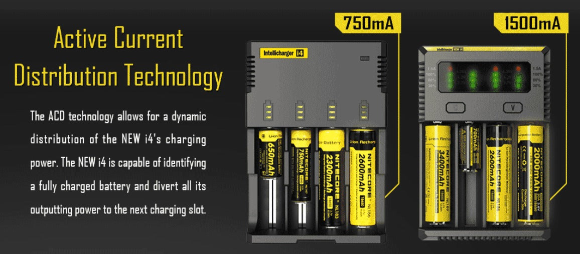 If a battery is fully charged, the next battery will receive charge instead.