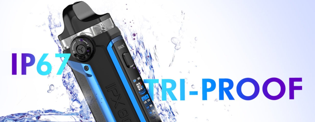 IP67 Tri-Proof. Protects from water splashing, dust, shaking and drops.