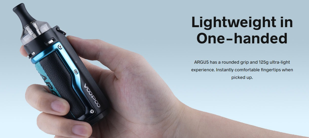 Light weight of 125 grams and rounded, ergonomic grip.