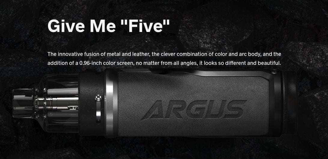 Argus Pro features a clever combination of metal and leather materials