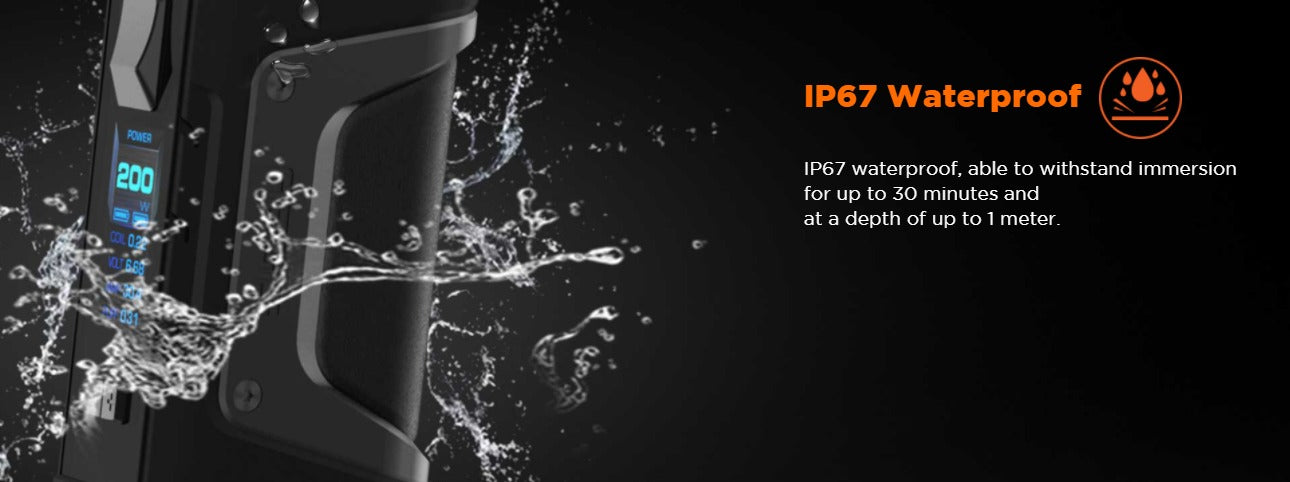 IP67 Waterproof for up to 30 minutes, up to a depth of 1 meter