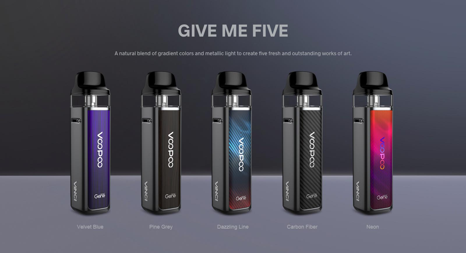 Choose from five colour options
